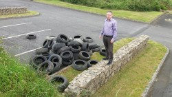 Larkin Condemns Illegal Tyre Dumping, Takes Action