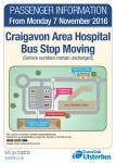 New Bus Stop at Craigavon Area Hospital