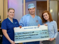 Fiona donates to Ear, Nose & Throat Theatres at Craigavon Hospital