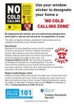 Show unwanted cold callers the door