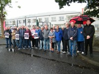 Sinn Fein Members Join Workers from Glen Dimplex During Their Strike Action