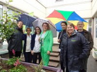 Central courtyards at Craigavon Area Hospital get a make over