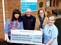 Janice Martin makes donation to the Mandeville Unit