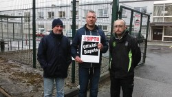 Glen Electric Workers on the Picket Line in a Day of Strike Action