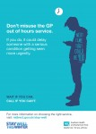 New Campaign Explains how to use GP Out of Hours Service