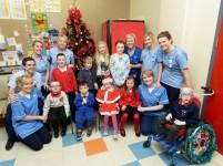 Santa makes live video call to Childrens Ward in Craigavon