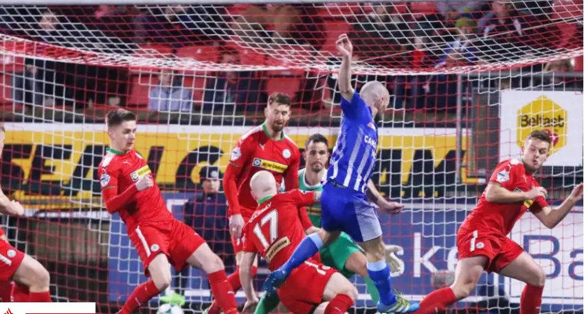 Cliftonville treble blast leaves Newry City stunned