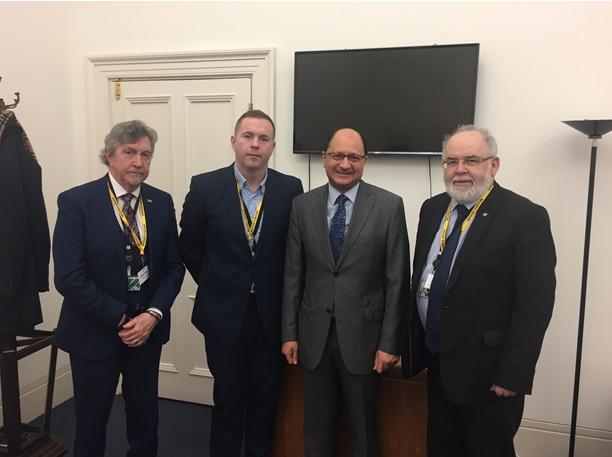 Sinn Féin MPs meet with new British Under-Secretary to the North of Ireland