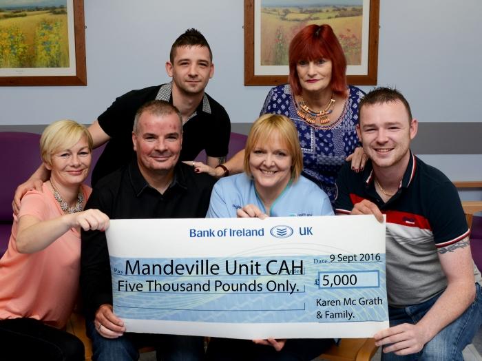 Family of Karen McGrath donate to Mandeville Unit in her memory